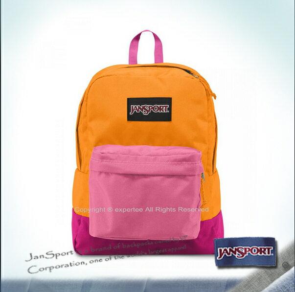 請先詢問庫存【騷包館】JANSPORT 專櫃 黑色標籤 校園後背包 金橙色 JS-43520J01E