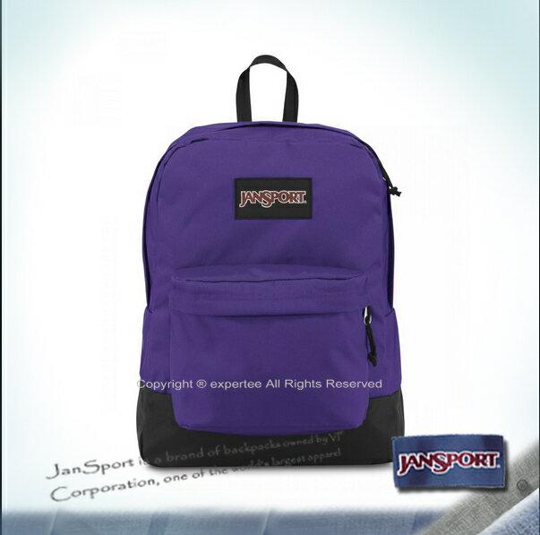 【騷包館】JANSPORT 專櫃 黑色標籤 校園後背包 紫色 JS-43520J05B