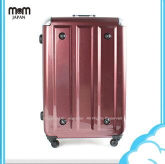 【騷包館】MOM JAPAN 日本品牌 29吋 新改版便利密碼鎖 輕量護角鋁框鏡面海關鎖旅行箱 酒紅方塊 MF3008-29-RD
