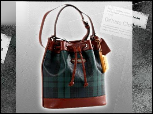 【Santa Barbara Polo】(美系) 聖大保羅綠格紋肩背斜背水桶包【大】 SB88-00707