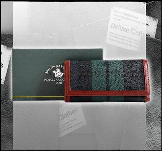 聖大保羅Santa Barbara Polo(美系) 綠格紋鑰匙包 013