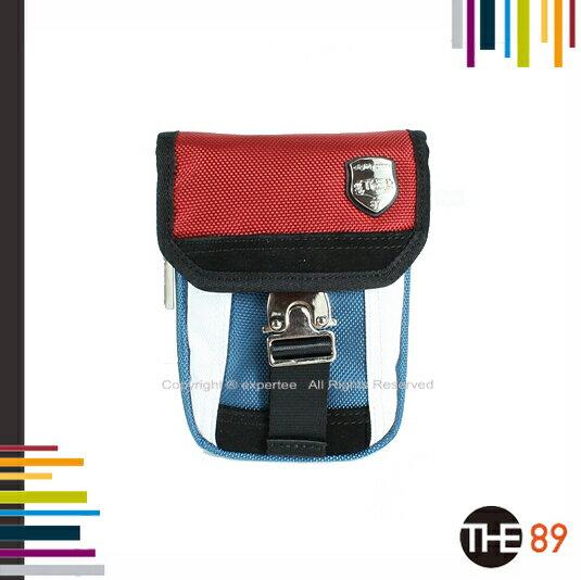 ~騷包館~THE89 美國 品牌 彩色玩趣 尼龍手機腰掛包 紅藍白配色 THE~941~9