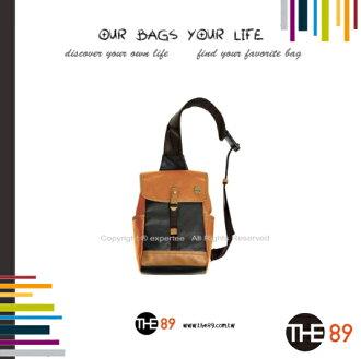 【騷包館】THE89 美國時尚品牌 學園經典單肩包 橘 THE-942-0901