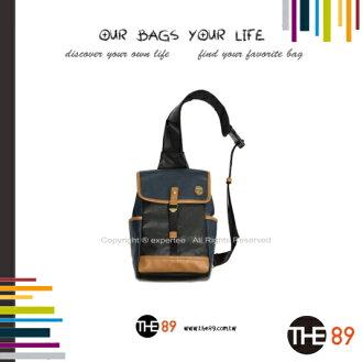 【騷包館】THE89 美國時尚品牌 學園經典單肩包 深藍 THE-942-0901