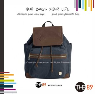 【騷包館】THE89 美國時尚品牌 輕簡漫遊 復古蓋式後背包 深藍 THE-942-0805