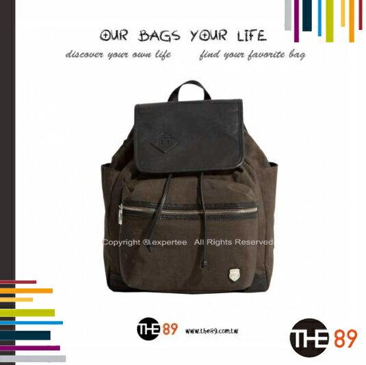 【騷包館】THE89 美國時尚品牌 輕簡漫遊 復古蓋式後背包 咖啡 THE-942-0805