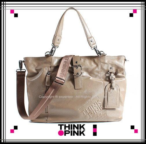 【騷包館】THINK PINK 潮流專櫃品牌 Real Soul系列 烙印風二用大托特包 113-5702-30-7