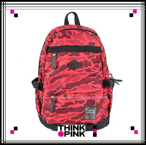 【騷包館】THINK PINK 潮流專櫃品牌 幻彩系列 玩色休閒後背包 紅色幻彩 TP-113-7601-108