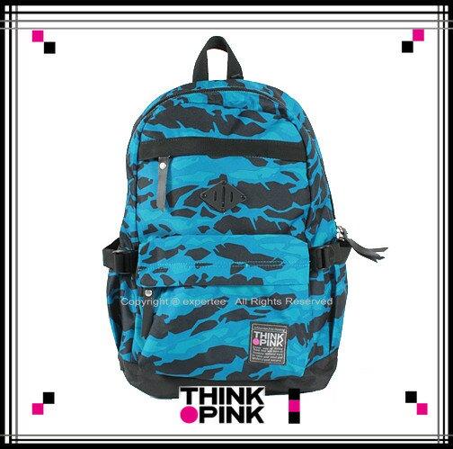 【騷包館】THINK PINK 潮流專櫃品牌 幻彩系列 玩色休閒後背包 藍色幻彩 TP-113-7601-508