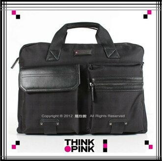 【騷包館】THINK PINK義大利品牌 現代雅爵系列 雙口袋兩用電腦公事包112-7203-09-7