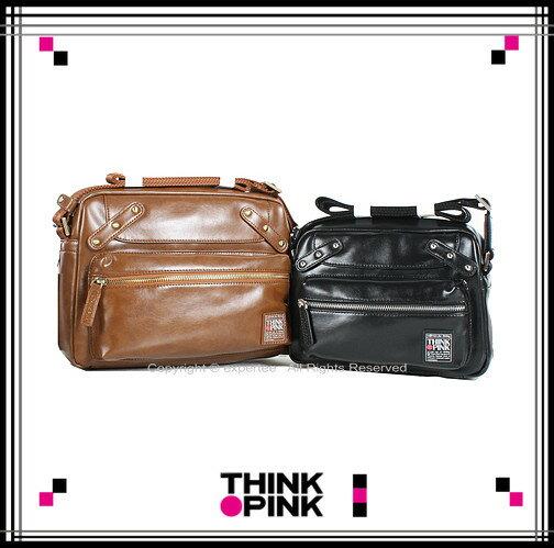 ~騷包館~THINK PINK 義大利品牌 Enjoy II系列 率性斜背包 小 雙色 T