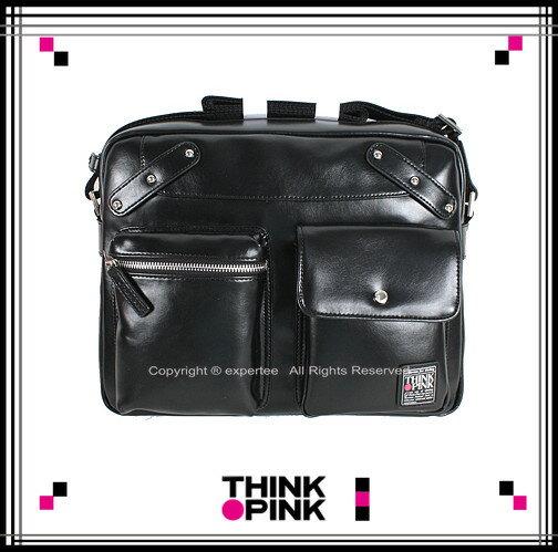 ~騷包館~THINK PINK 義大利品牌 Enjoy II系列 率性斜背包 大 黑色 1