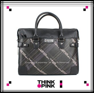【騷包館】THINK PINK 潮流品牌 紳士品格系列 縱橫紋路兩用公事包 黑色 TP-113-8302-097