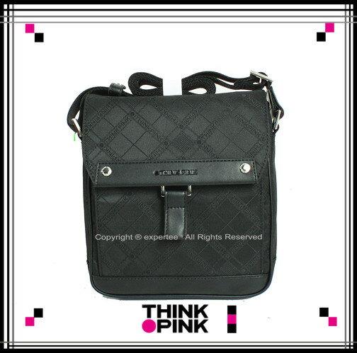 ~騷包館~THINK PINK 潮流專櫃品牌 平板電腦包 超凡格紋系列 舌片直立斜背包 黑