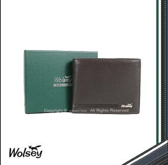 【騷包館】【Wolsey 皇家金狐狸】牛皮 烙印線條 基本內裡多卡短夾 咖啡 WS-530504