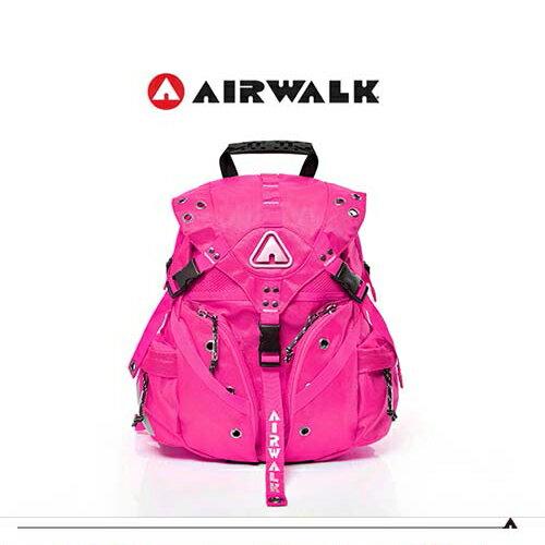 【騷包館】【AIRWALK】美式潮流 繽紛三叉扣後背包(小) 桃紅A431322842(預購)