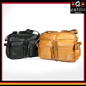 【騷包館】estilo艾斯堤洛 歐式潮流品牌 休閒玩家系列雙口袋小斜背包 雙色 ES-214-5524-307