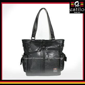 【騷包館】estilo艾斯堤洛 歐式潮流 休閒玩家系列肩背兩用托特包==黑色 ES-214-5503-097
