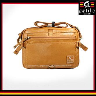 【騷包館】estilo艾斯堤洛 歐式潮流品牌 休閒玩家系列雙口袋小斜背包 雙色 ES-214-5508