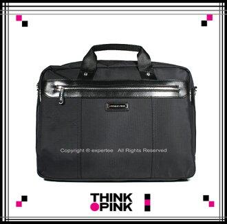 【騷包館】THINK PINK 潮流專櫃品牌 曙光系列 穩重典雅手提兩用公事包 黑色 TP-114-8404