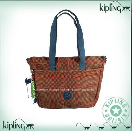 【騷包館】【Kipling】 優惠驚喜價! 週慶特別款 肩背兩用托特包 紅磚印花 K-374-2421-049