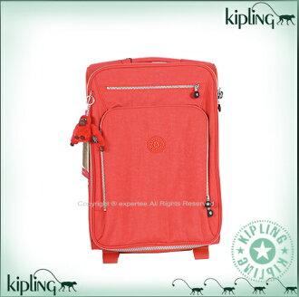 【騷包館】【Kipling】BASIC系列 獨家造型羽量二輪登機箱 鮮紅 K-374-5315-143