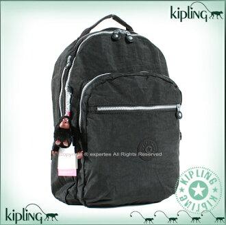 【騷包館】【Kipling】比利時品牌 15吋電腦後背包 黑 k-373-5015-899