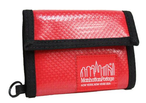 Manhattan Portage曼哈頓 紐約品牌 橫式亮皮皮夾 紅色 MP1013-VL-RD