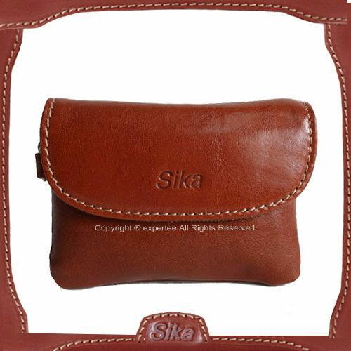 【騷包館】Sika 義大利牛皮 蓋式零錢包 咖啡色A8258-01
