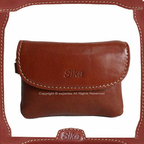 【騷包館】Sika 義大利牛皮 蓋式零錢包 深咖啡A8258-02