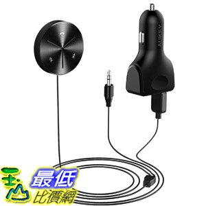 [8美國直購] 手機傳輸到汽車,喇叭或其他藍芽裝置 AUKEY Bluetooth Receiver Car Kit with 3-Port USB Car Charger, Magnetic Base