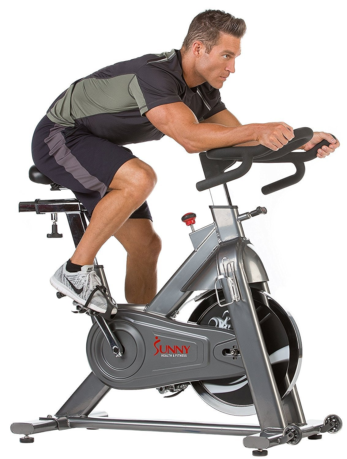 fc30ba61d9f Sunny Health & Fitness SF-B1516 48.5lb Flywhweel Chain Drive Commercial Indoor  Cycling Exercise