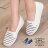 格子舖*【AR262167】韓版海軍條紋休閒簡約 帆布鞋 平底娃娃包鞋 鬆緊好穿脫懶人鞋 樂福鞋 2色 0