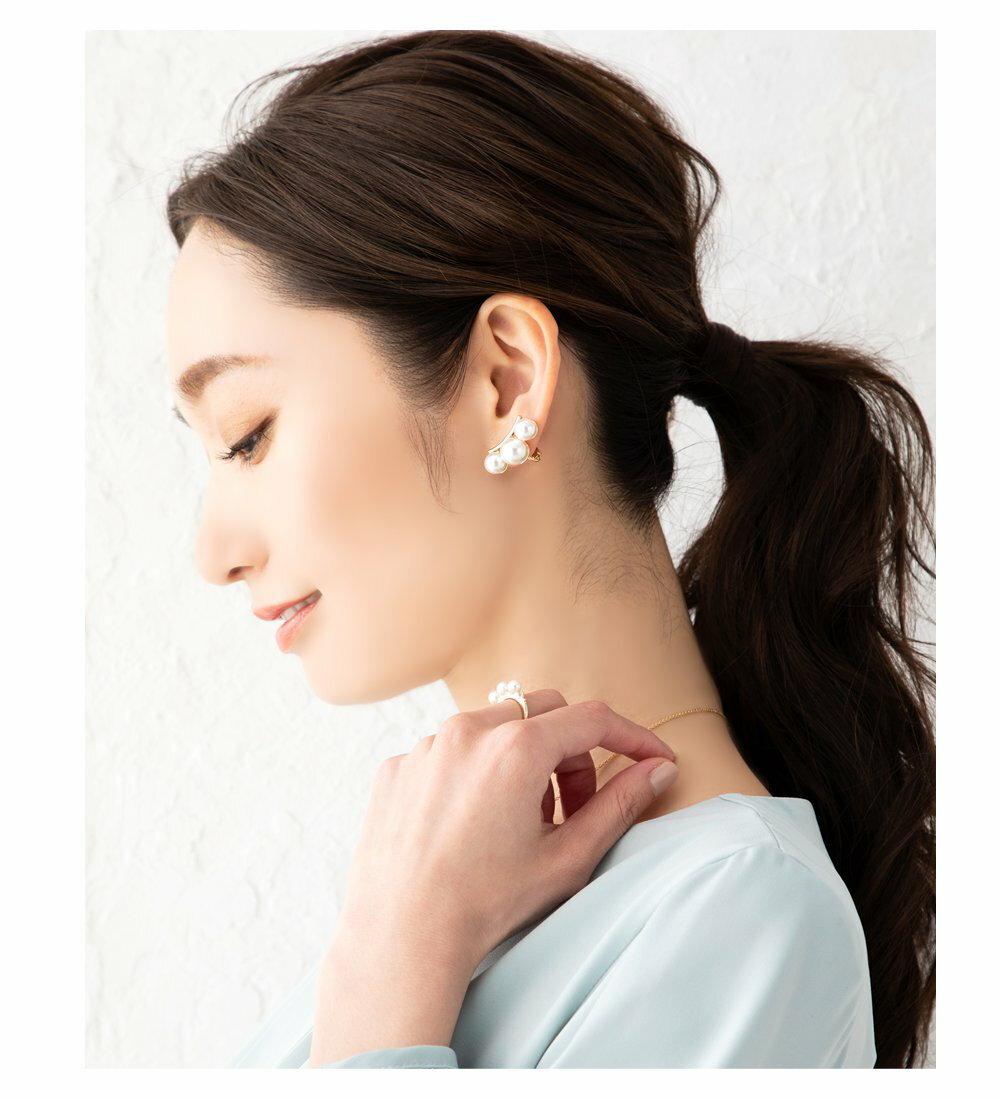 日本Cream Dot  /  優雅珍珠造型耳環  /  a04074  /  日本必買 日本樂天代購  /  件件含運 4