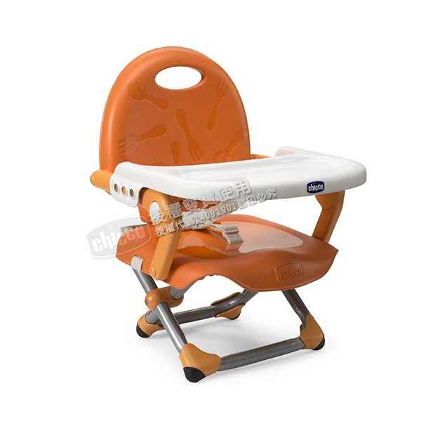 Chicco Pocket snack攜帶式輕巧餐椅座墊-橙橘
