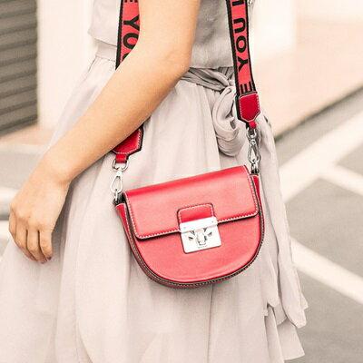 肩背包馬鞍側背包-時尚簡約百搭迷你女包包4色73sb14【獨家進口】【米蘭精品】
