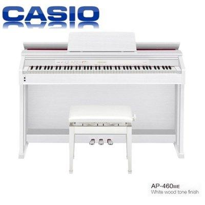 『非凡樂器』卡西歐CASIO AP460 /白色木質色調/CELVIANO 數位鋼琴/台灣卡西歐原廠公司貨