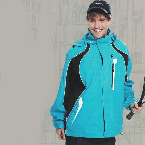 【日本Kawasaki】男女休閒功能性二件式網裡外套(水藍)#K255A - 限時優惠好康折扣
