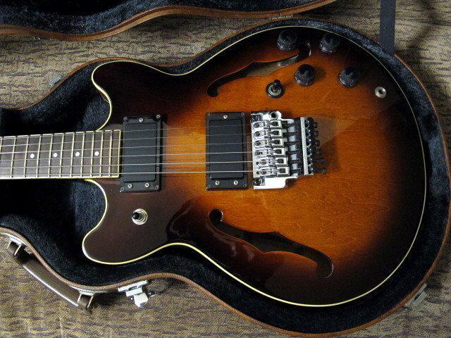 ☆ 收藏出讓︵☆1987日廠 Ibanez AM-75 半空心大搖座電吉他【唐尼樂器】