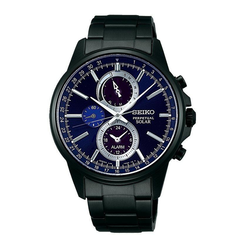 SEIKO SPIRIT SMART太陽能多功能腕錶/V198-0AC0P/SBPJ017J