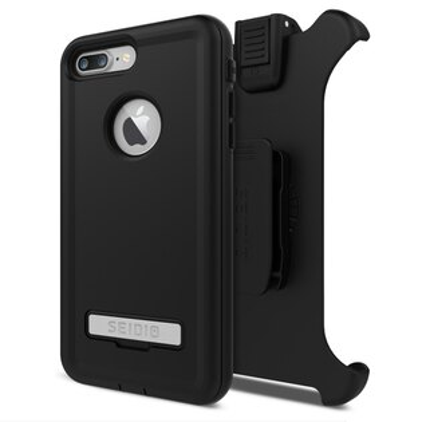 SEIDIO:CONVERT™COMBO金剛級保護殼(附背夾)鐵漢黑foriPhone7Plus