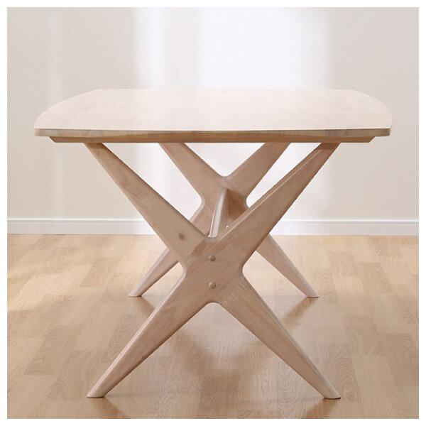 ◎(OUTLET)實木餐桌 RELAX 160 WW 橡膠木 福利品 NITORI宜得利家居 2