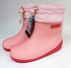 Moonstar 月星 日本製 輕量可折束口止滑耐磨 機能 童鞋 高筒 雨鞋 水鞋  MSRBB024(粉)陽光樂活]