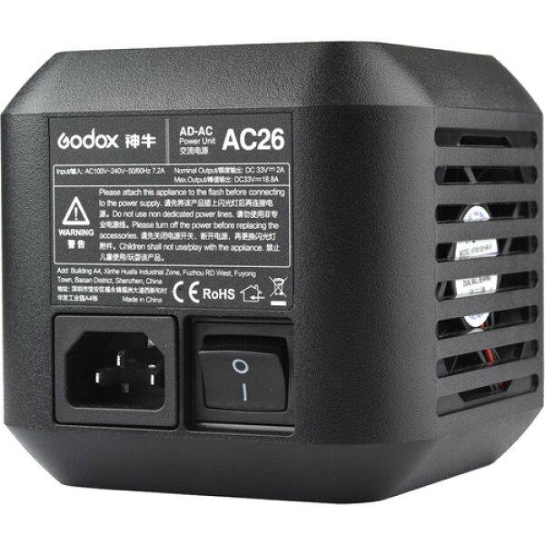 [享樂攝影]神牛GodoxAD600Pro專用AC26交流電電源變壓器110V公司貨