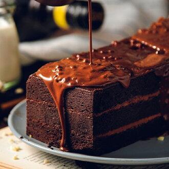 【免運】 70%比利時黑巧克黑金磚-70%濃郁巧克力外皮、蛋糕體、內餡,與杏仁碎果的美味交融