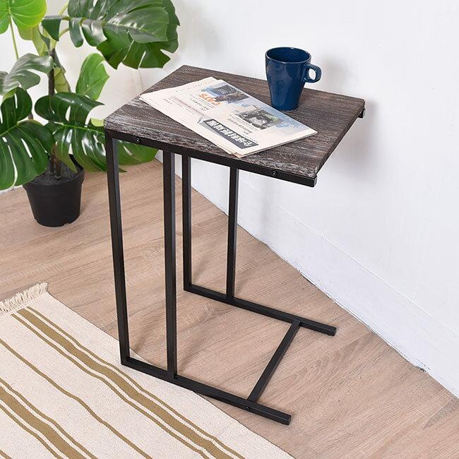 凱堡 桐木邊桌 實木邊桌 仿舊系列 小茶几沙發邊桌【H05070】 1