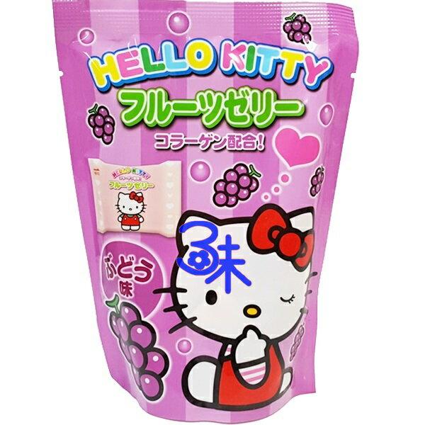 (日本) 浪速 凱蒂貓果凍- 葡萄果凍 1包 110 公克 特價 50 元 【4902398700561 】浪速 Hello Kitty 葡萄果凍