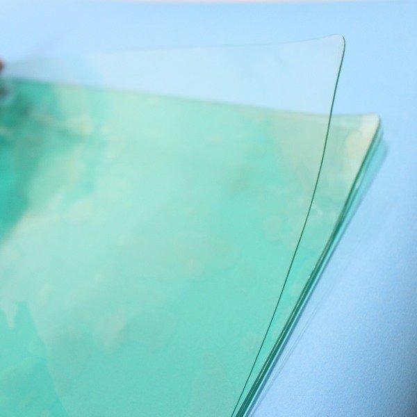 透明桌墊學校書桌專用40cmx60cm厚0.8mm一袋36片入{定80}舒美透明軟墊一般全透明~信