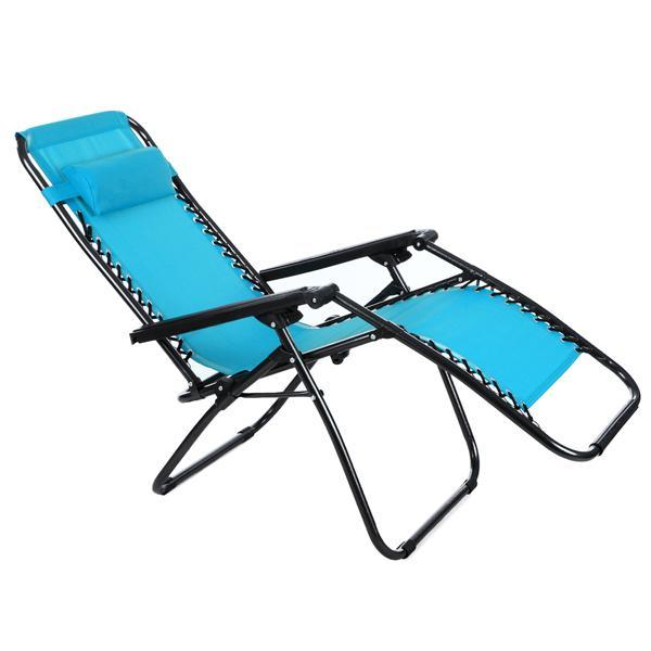 Folding Zero Gravity Reclining Lounge Portable Garden Beach Camping Outdoor Chair 4