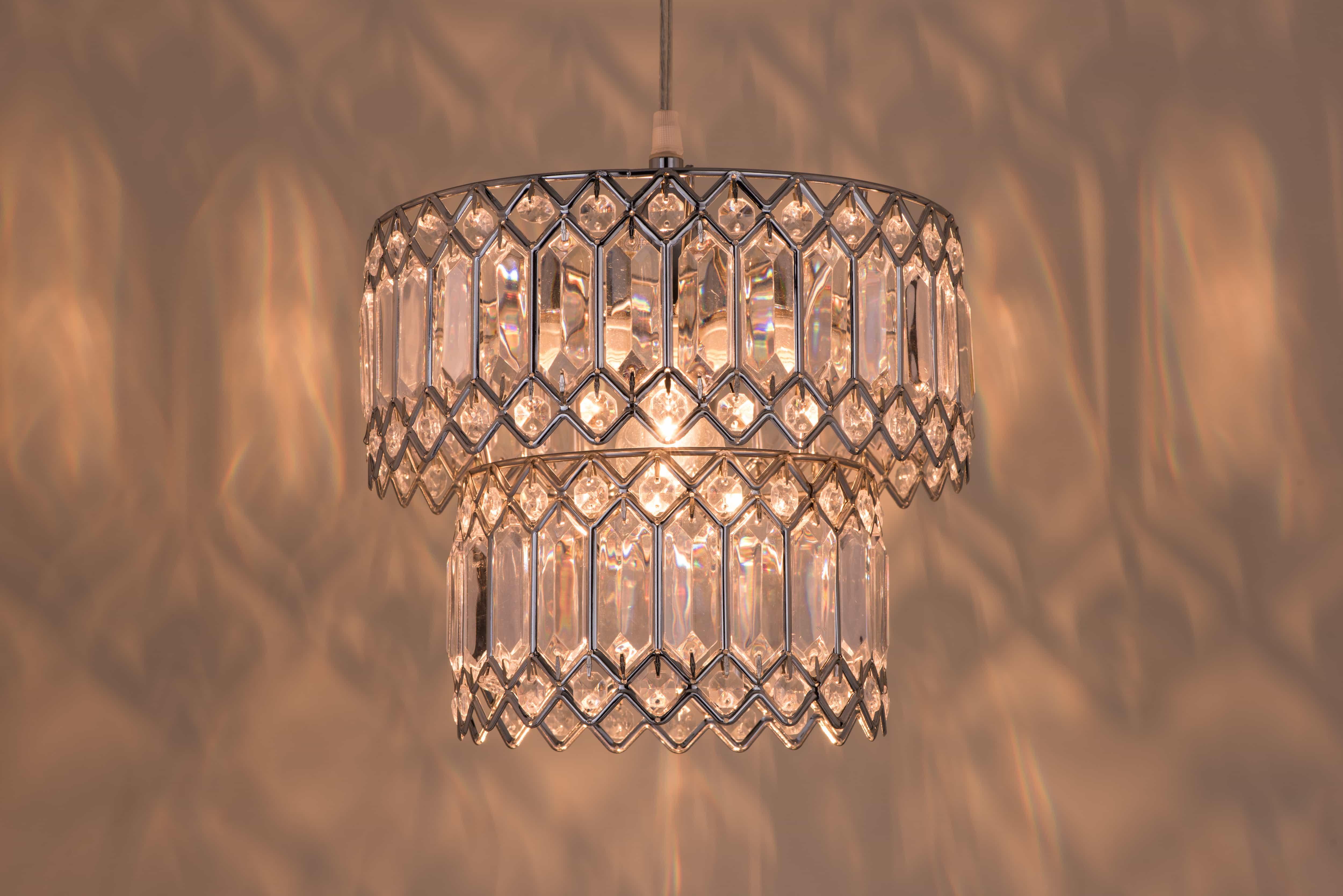 鍍鉻銀鐵花邊透明壓克立吊燈-BNL00056 4
